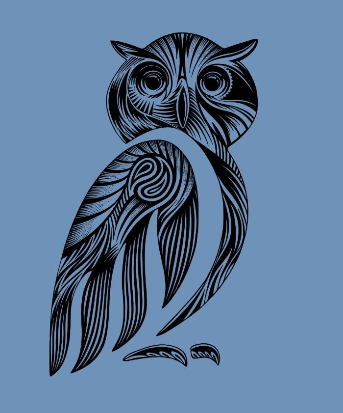 Tribal Owl Art Print