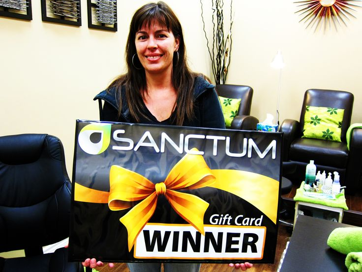 Congratulations Debi Newman - winner of NailsON contest, a complimentary Manicure from talented team at Sanctum!