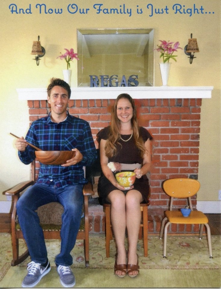 Fairytale  Pregnancy Announcement   Baby Announcement  Three Little Bears  Thanksgiving Baby  Pregnant Pregnancy