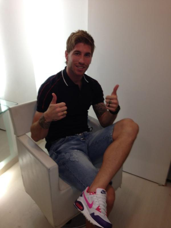 Sergio Ramos new haircut !!!!!!!!