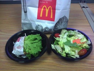 Cheap Deal: McDonalds McDouble and Side Salad for $2 - Poor Man's Atkins