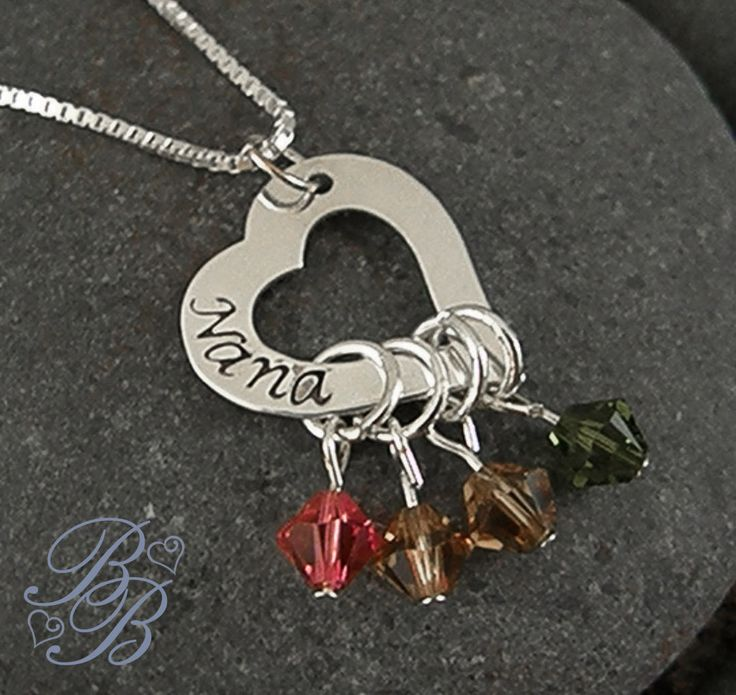 Mother's Necklace - Grandma's Necklace - Hand Stamped Jewelry - Personalized Jewelry