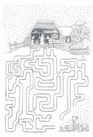 Fun maze activity