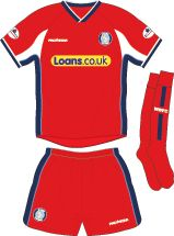 Wycombe Wanderers away kit for 2002-03.