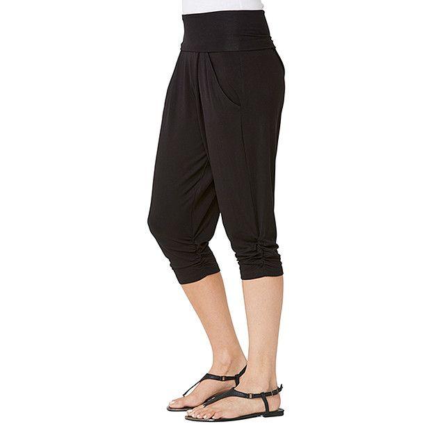 Health Goth // Target / 3/4 Length Harem Pants - Black