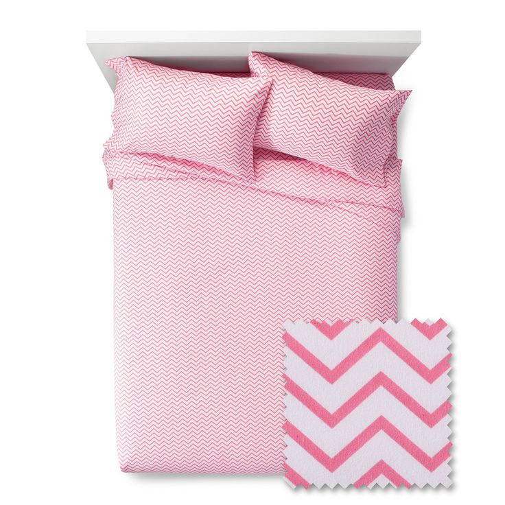 The Chevron Sheet Set from Pillowfort adds a soothing finishing touch to any child's bedroom. The sheet set has a subtle chevron pattern across all pieces, with a simple color palette for a soothing, quieting effect. The kids' sheet set would work well in a boy's or girl's bedroom.