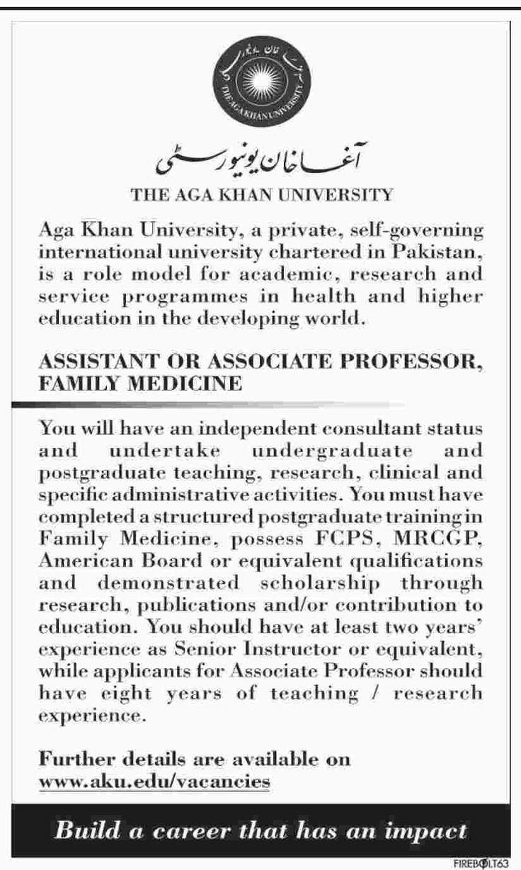 jobs in The Aga Khan University karachi pakistan 29 january 2017