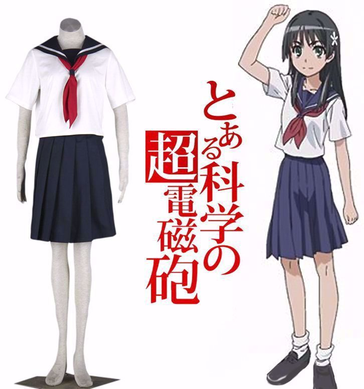 Click To Buy Free Shipping A Certain Scientific Railgun Sakugawa Middle School Girls Sai School Uniform Anime Anime Cosplay Costumes Middle School Girls