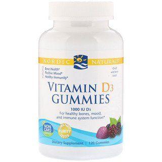 Nordic Naturals Vitamin D3 Gummies Wild Berry 1000 Iu 120 Gummies In 2020 Chewable Vitamins Healthy Mood Vitamins