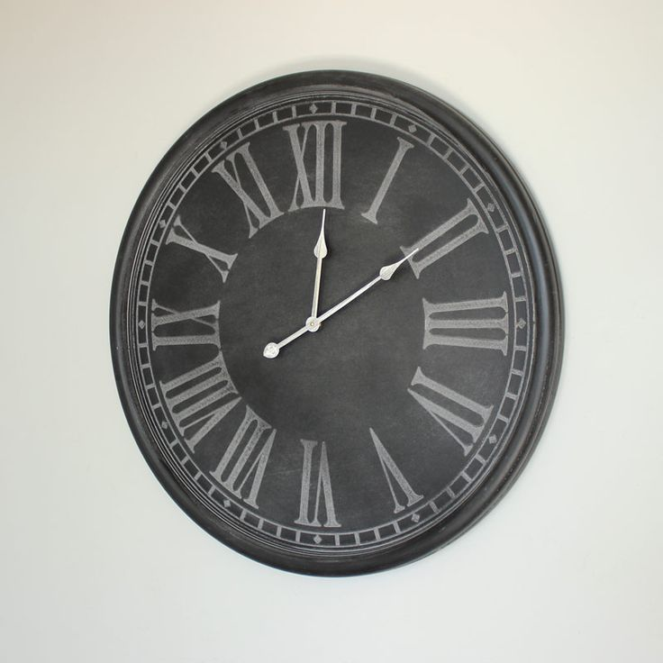 Extra Large Dark Grey Wall Clock