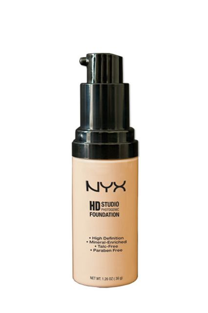 "Foundation ""Benjamin Puckey, one of my favorite makeup artists, told me that this foundation is comparable to some of the luxury formulas that are currently on the market. It delivers a satiny, almost velvet-like finish that's smooth and budge-proof, especially when you mix it in with your favorite luminizer."" — Phillip Picardi  NYX HD Studio Photogenic Foundation, $18"