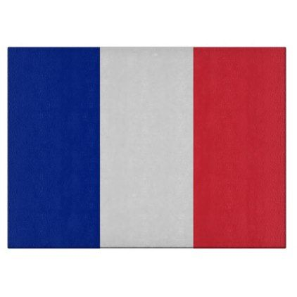 Glass cutting board with Flag of France - kitchen gifts diy ideas decor special unique individual customized