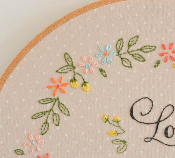 Tutorial: 'Love Without Reason' embroidery ~ by Down Grapevine Lane