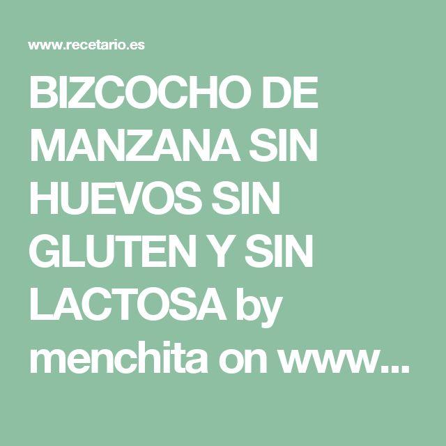 BIZCOCHO DE MANZANA SIN HUEVOS SIN GLUTEN Y SIN LACTOSA by menchita on www.recetario.es