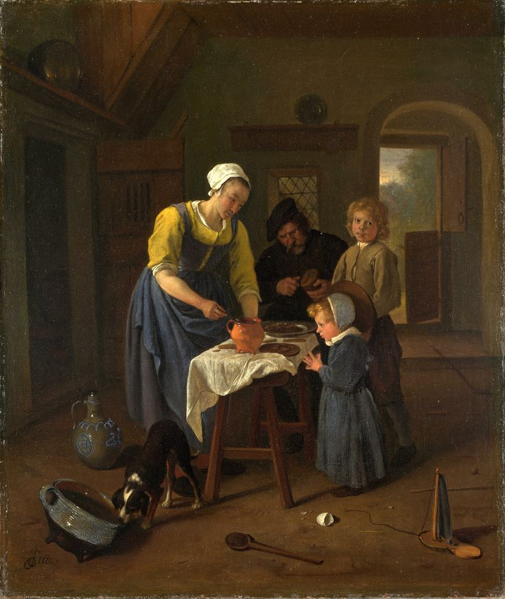 https://flic.kr/p/o4R4cZ | A Peasant Family at Meal-time ('Grace before Meat') | c. 1665. Oil on canvas. 44,8 x 37,5 cm. National Gallery, London. 2558.