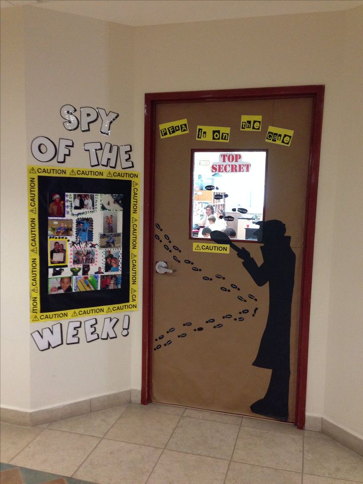great spy door decoration classtheme vbs pinterest doors the