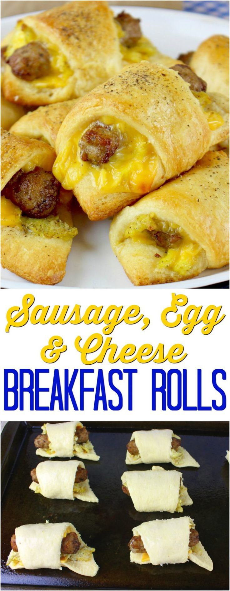 Sausage, Egg, & Cheese Breakfast Rolls from The Country Cook