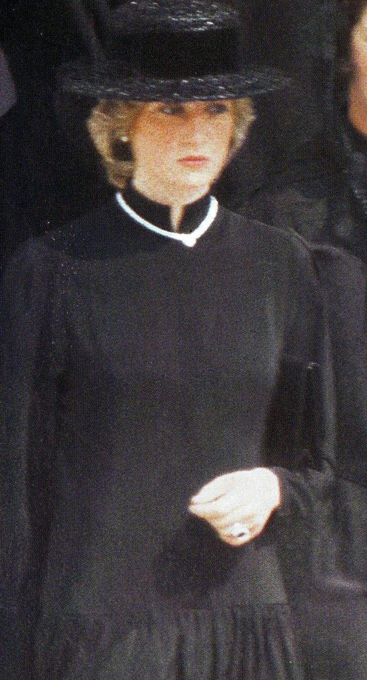 Princess Diana at Princess Grace's Funeral in Monaco