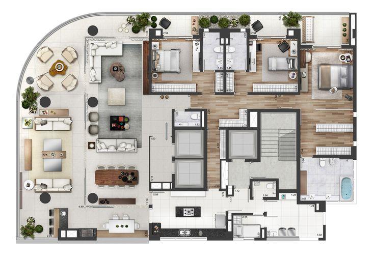 Neorama - Floor Plan - Bueno Netto/Geometria