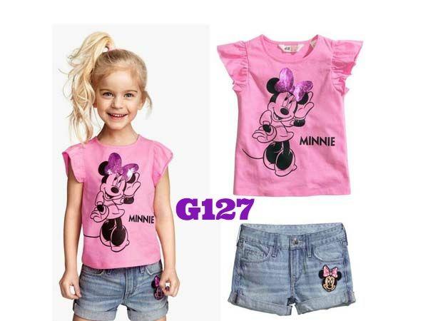 H&M Minnie pink girlset (G127)    size 2-7    IDR 119.000
