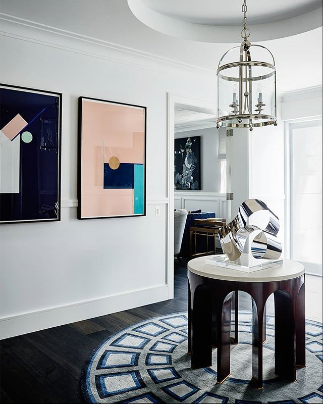 Make An Entrance This Custom Piece By Gregnatale Gets A Striking Blue Recolo Interior Design Furniture Interior Design Inspiration Interior Design Your Home