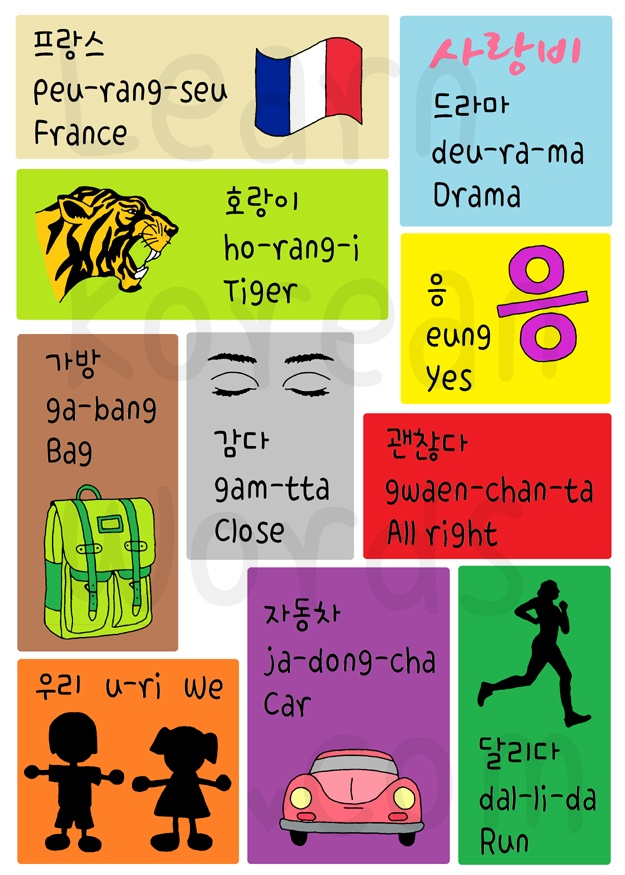 Korean Letters And Words