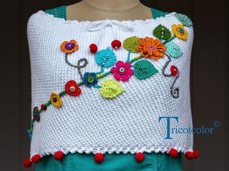 Tricotcolor: Ponchos et chauffe-épaules, regards dans le rétro...