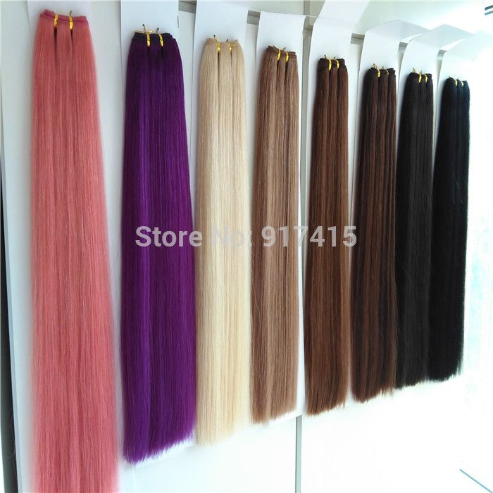 "Find More Hair Weaves Information about Hotsale Grade 6A Euro Human Hair Double Drawn Hair Weft  Any Color Hair Extensions 18"" 20"" 22"" 24"".,High Quality hair saver,China extension hair Suppliers, Cheap hair bare from top hair/sinohair on Aliexpress.com"