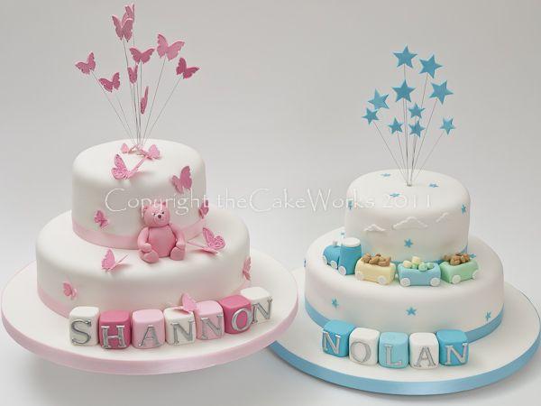 Twins Christening, Baptism, Baptism cake, Cake Works, CakeWorks, Christening, Christening cake, Co. Durham, Darlington, Darlington Cakes, Naming Day, theCakeWorks