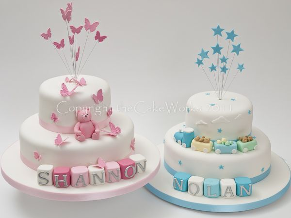 Twins Christening, Baptism, Baptism cake, Cake Works, CakeWorks, Christening, Christening cake, Co. Durham, Darlington, Darlington Cakes, Naming Day, theCakeWorks