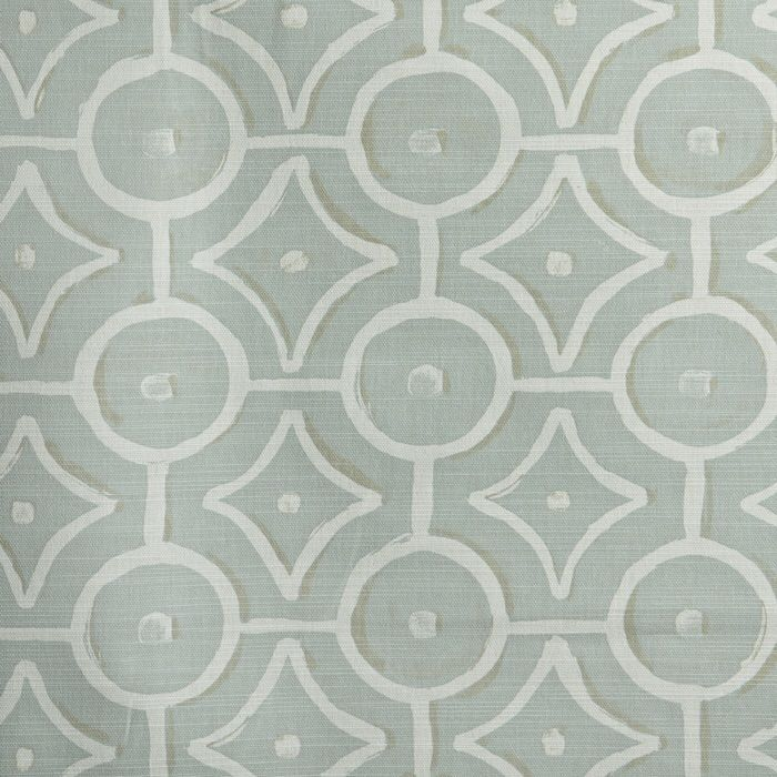 Longridge Oilcloth in Eau de Nil Gloss finish on a woven cotton backing Width Approximately 135 cms Vertical Pattern Repeat 12 cm Horizontal Pattern