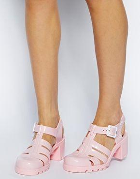 Sandalias de tacón en rosa claro exclusivas para Babe Baby de Juju