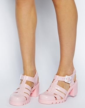 Image 4 ofJuju Babe Baby Pale Pink Exclusive Heeled Sandals