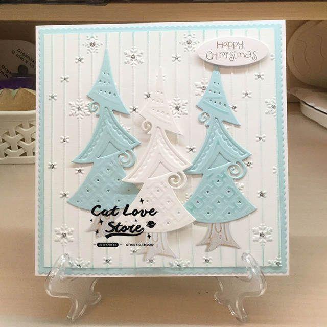 Christmas Tree Metal Cutting Die Stencil DIY Scrapbooking Paper Card Craft