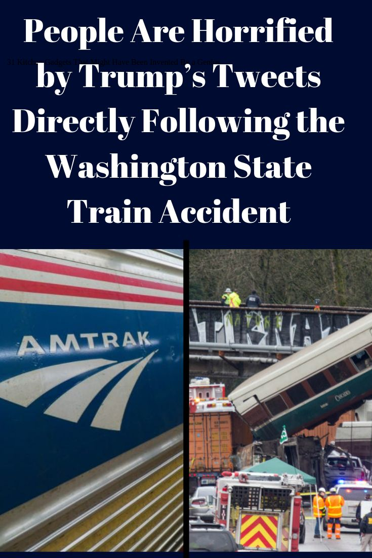 People Are Horrified by Trump's Tweets Directly Following the Washington State Train Accident