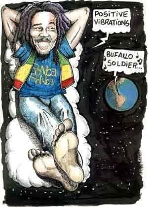 **Bob Marley** ►►More fantastic caricatures, cartoons & sketch arts, pictures, music and videos of *Robert Nesta Marley* on: https://de.pinterest.com/ReggaeHeart/