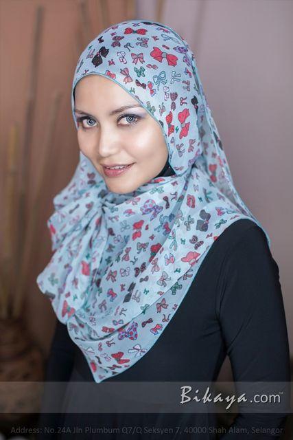 printed chiffon long shawl