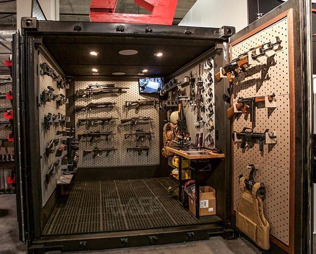 6 000 lb gun vault by gallowtech and blackwolf inc for How to build a gun safe room