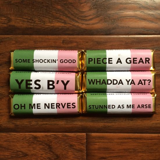 newfoundland sayings chocolate bars