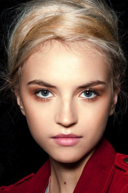 up-do + eye makeup.