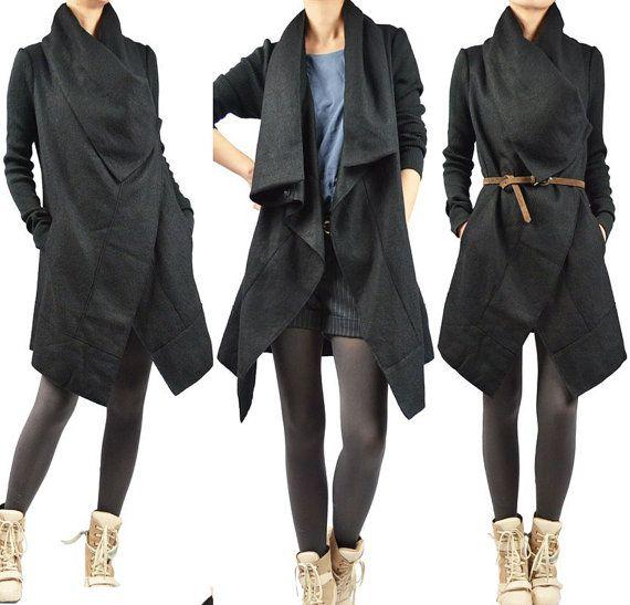 black wool coat all day!