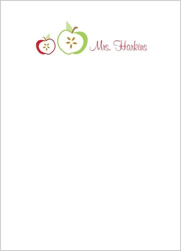 Crisp Apple 5x7 Notepad - So cute for Teacher gifts or other presents!