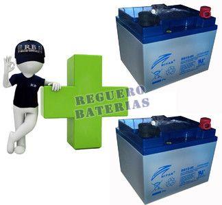 Baterías de GEL  para silla de ruedas 12 Voltios 40 Amperios RITAR DG12-40