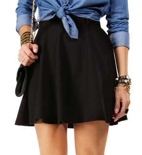 WHAT TO WEAR WITH BLACK SKATER SKIRT on The Hunt