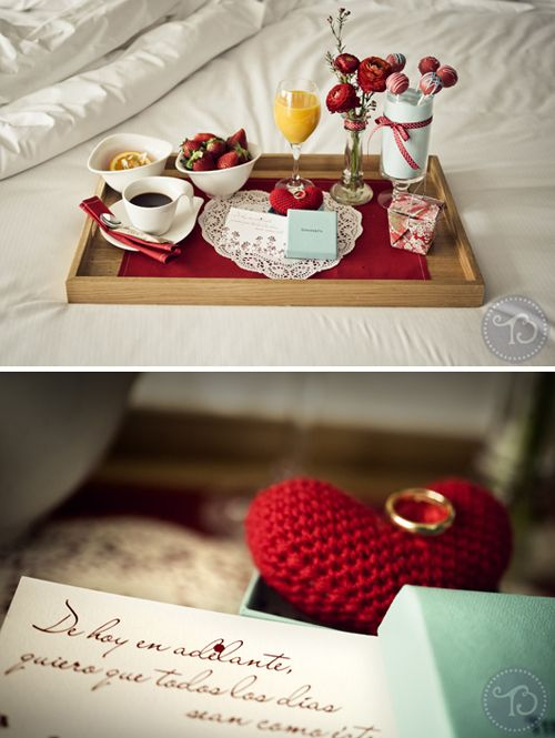 Idea para proponer matrimonio: un desayuno especial (Foto, Víctor Lax / Idea: @Bodas de Cuento para Tendencias de Bodas Magazine)