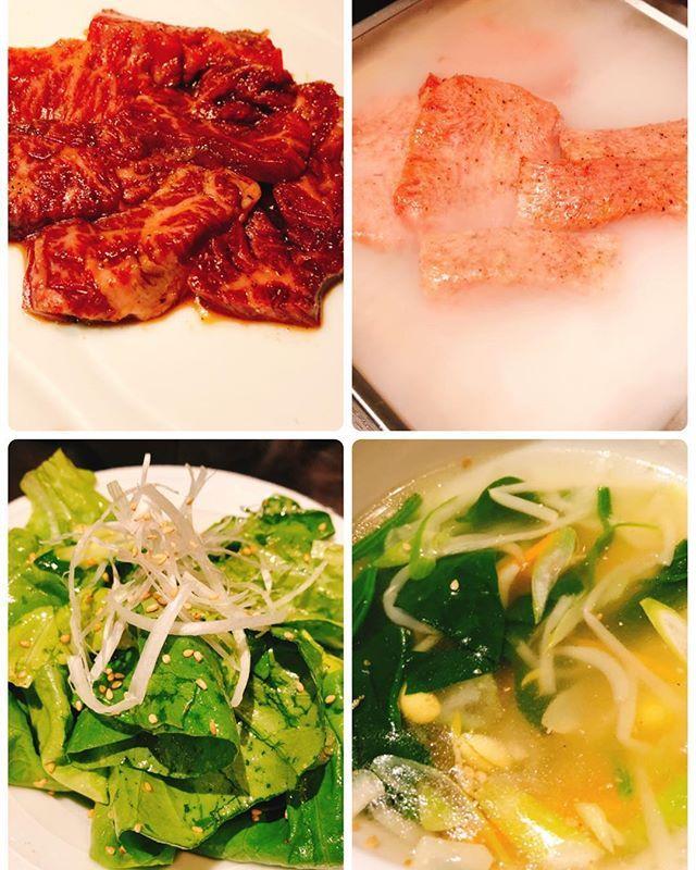週末は焼肉でスタミナ♡ #池袋 #味道苑 #味道苑はなれ #焼肉 #肉  #二日酔いすぎて、全然食べれなかったの巻。 #野菜スープに救われた♡ #レモンサワーで迎え酒♡ #ハラミ #とろタン塩 #ごま塩サラダ  #野菜スープ  #japan #japanfood #tokyo #ikebukuro #yakiniku #salad #beef #soup