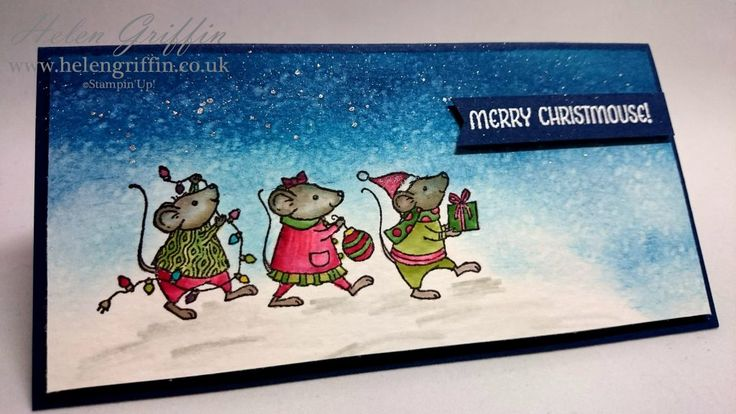 I absolutely adore how well this card has turned out and those little mice are so cute! I'm going to need a little more practice, but this isn't bad for my first time using this techniq…