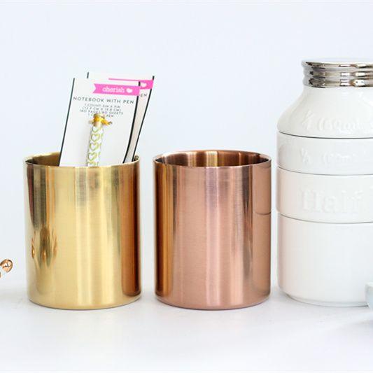 安い北欧スタイル真鍮ゴールド花瓶/ペンホルダー/セットの収納チューブローズゴールドペンホルダー収納カップ/コンテナ、購入品質ストレージボトル&ジャー、直接中国のサプライヤーから:北欧スタイル真鍮ゴールド花瓶/ペンホルダー/セットの収納チューブローズゴールドペンホルダー収納カップ/コンテナ