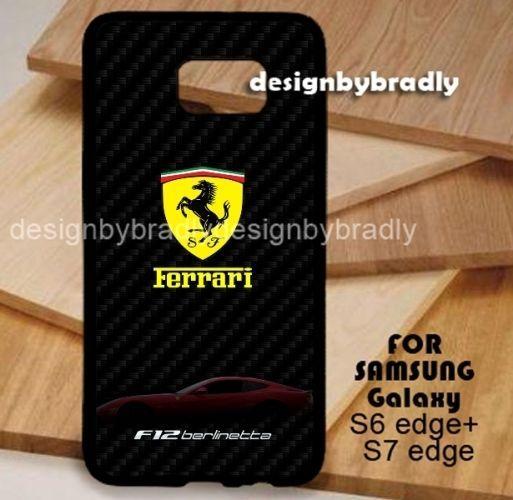 Ferrari F12 Berlinetta Black Samsung Galaxy S3 S4 S5 S6 S7 S8 Edge Plus Case #UnbrandedGeneric