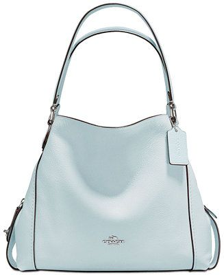 ee616b7ffe6de1 Shop COACH Edie Shoulder Bag 31 in Polished Pebble Leather online at  Macys.com. Plump pebble leather takes the form of the latest Edie shoulder  bag from ...